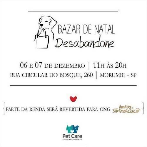 pet care 02 - Bazar de Natal Desabandone: Participe!