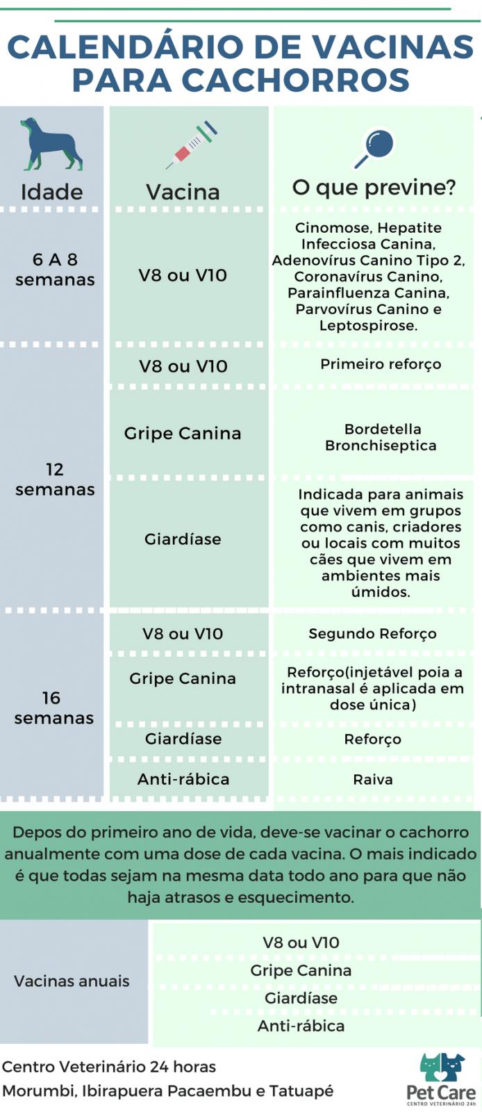 Calendário de vacinas para cachorros (1)