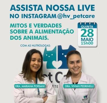 baner site mobile live nutrologas - Live Mitos e verdades sobre a alimentação dos animais 28/05 às 15h no Instagram @hv_petcare