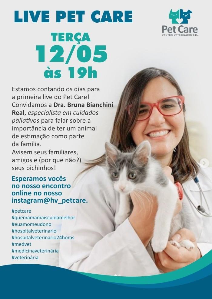 whatsapp image 2020 05 05 at 17 43 42 1 - Live Pet Care no Instagram dia 12/05 às 19h