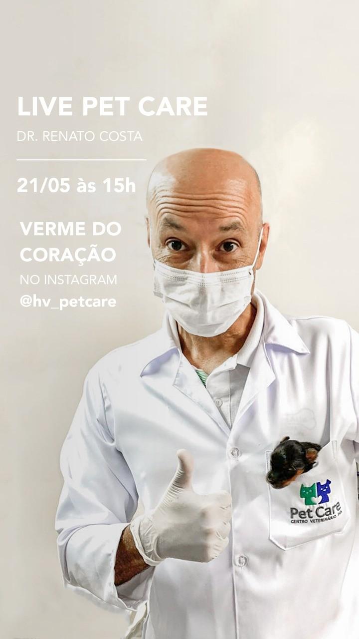 whatsapp image 2020 05 19 at 11 35 54 - Live Verme do Coração 21/05 às 15h no Instagram @hv_petcare