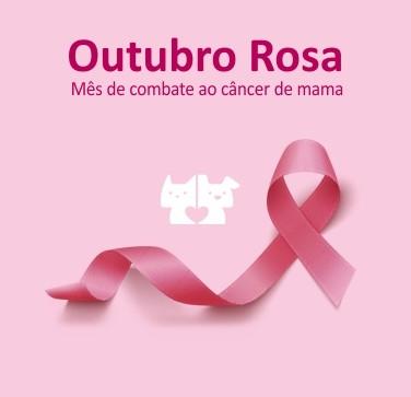 baner mobile outubro rosa - Outubro Rosa: fique atento ao câncer de mama em cadelas e gatas