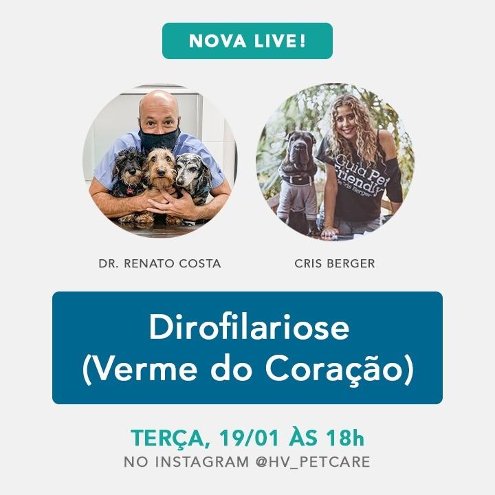 whatsapp image 2021 01 15 at 17 06 48 - Live Dr. Renato Costa & Cris Berger - Verme do Coração (Dirofilariose)