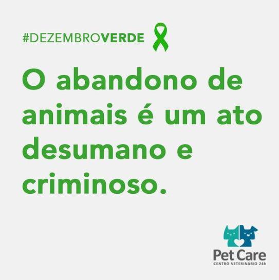 14 de dezembro de 2020 - Você sabia que abandono de animais é crime?