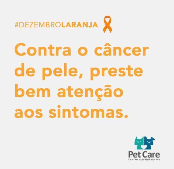 9 de dezembro de 2020 1 - O #DezembroLaranja serve como alerta ao câncer de pele.
