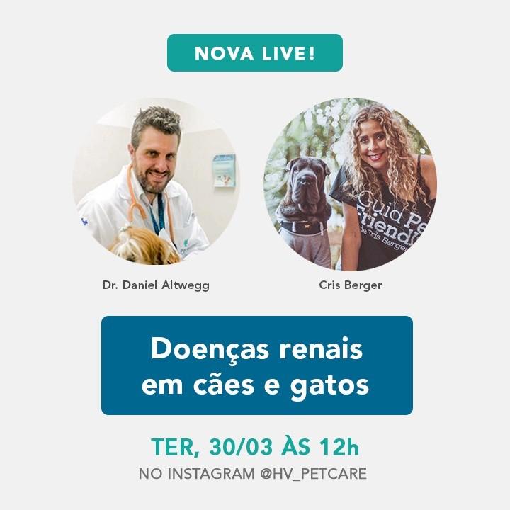 whatsapp image 2021 03 19 at 17 16 02 - Live: Março Amarelo - doenças renais em cães e gatos