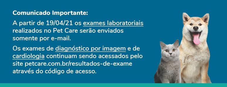 banner comunicado 1 - Resultados de exame