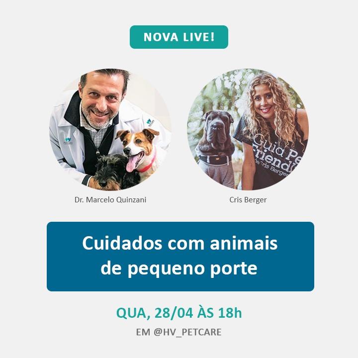 """whatsapp image 2021 04 26 at 16 13 39 - Live sobre """"Cuidados com animais de pequeno porte"""""""
