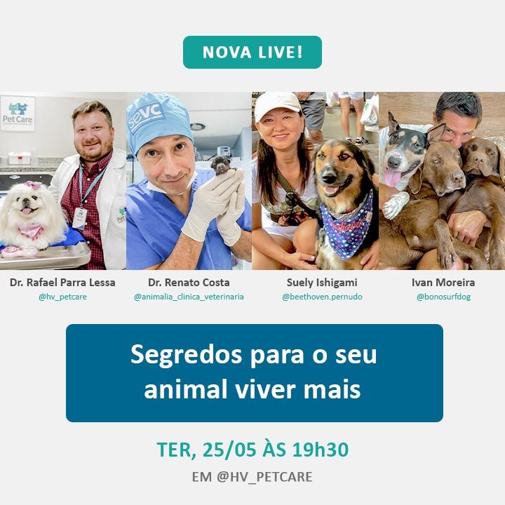 whatsapp image 2021 05 19 at 14 19 35 - Live: Segredos para seu pet viver mais