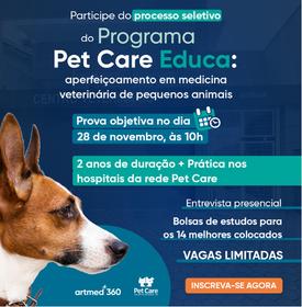 curso - Pet Care Educa: aperfeiçoamento em medicina veterinária de pequenos animais